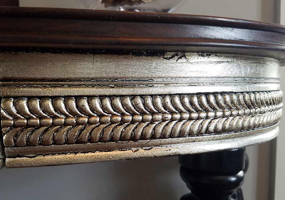 Wall Mounted Walnut Half Table 3