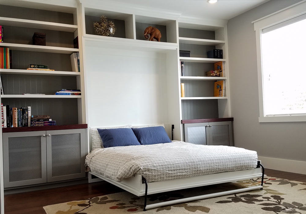Custom Murphy Bed With Built Ins Tattered Oak Studio