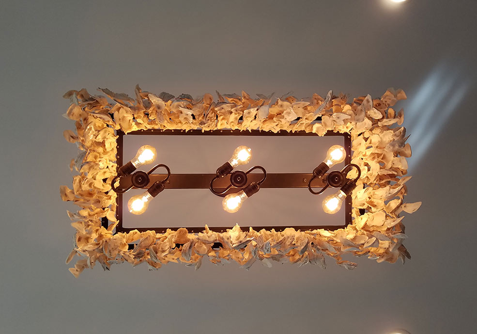 oyster seaside shell light shades chandelier products of wrought iron